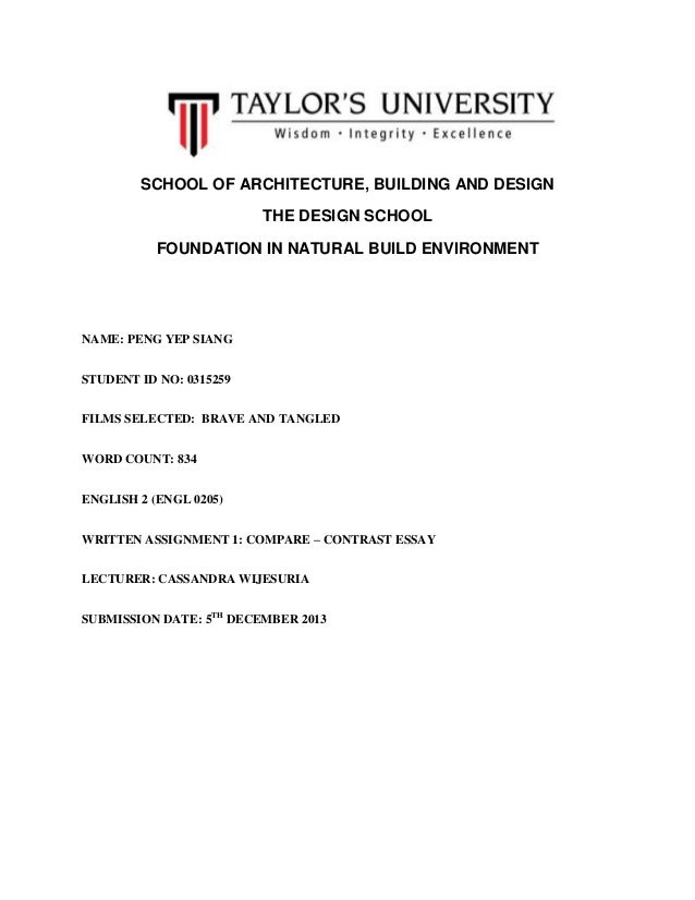 SCHOOL OF ARCHITECTURE, BUILDING AND DESIGN THE DESIGN SCHOOL FOUNDATION IN NATURAL BUILD ENVIRONMENT  NAME: PENG YEP SIAN...
