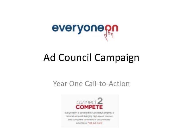 Ad Council Campaign Year One Call-to-Action