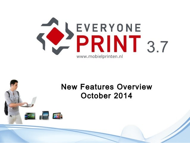 New Features Overview  October 2014