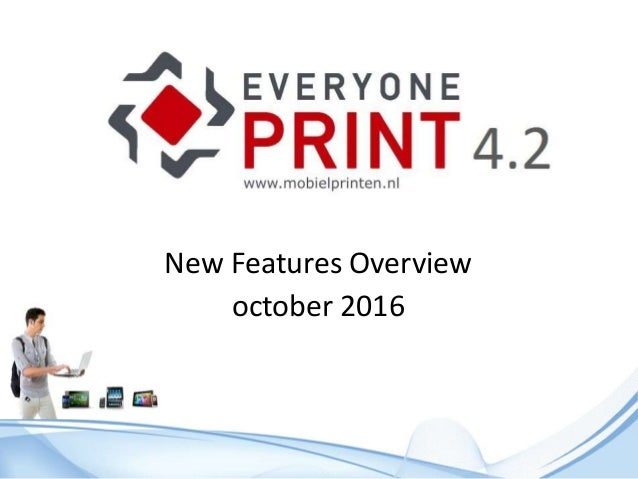 New Features Overview october 2016