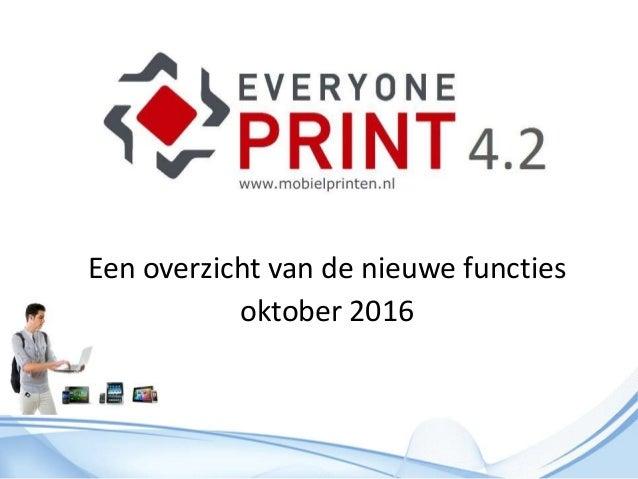 Een overzicht van de nieuwe functies oktober 2016