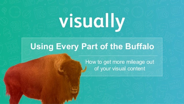 Using Every Part of the Buffalo How to get more mileage out of your visual content