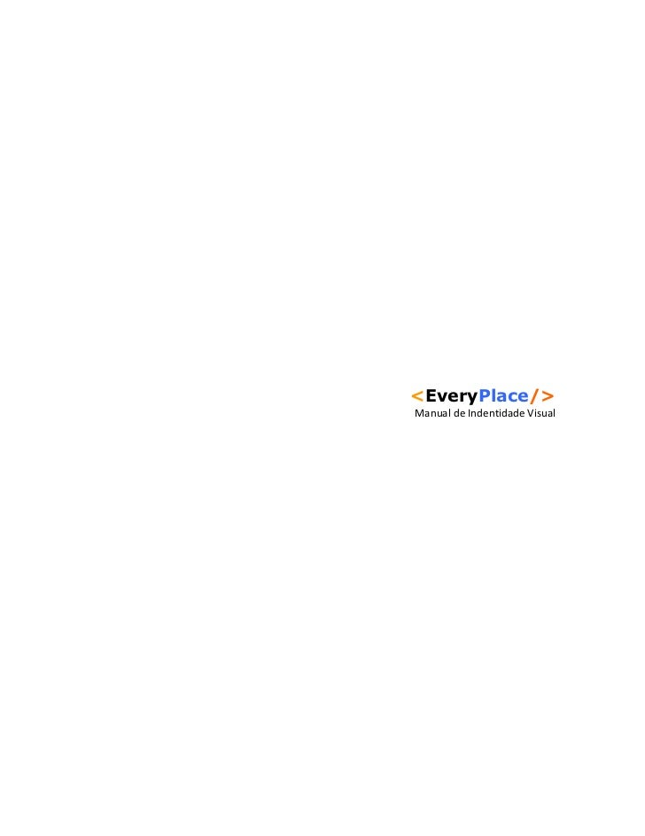 <EveryPlace/>Manual de Indentidade Visual