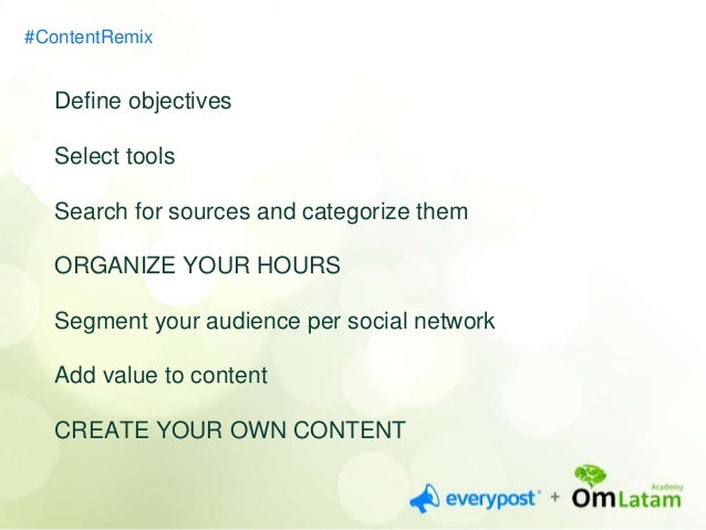 CONTENT CURATION IS AN  OPPORTUNITY FOR A  SPECIALIZATION  #ContentRemix