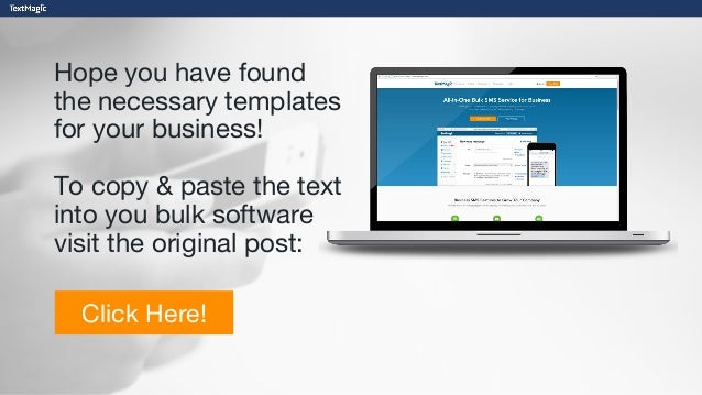 Every Single Text Message Template You Need For Your Business