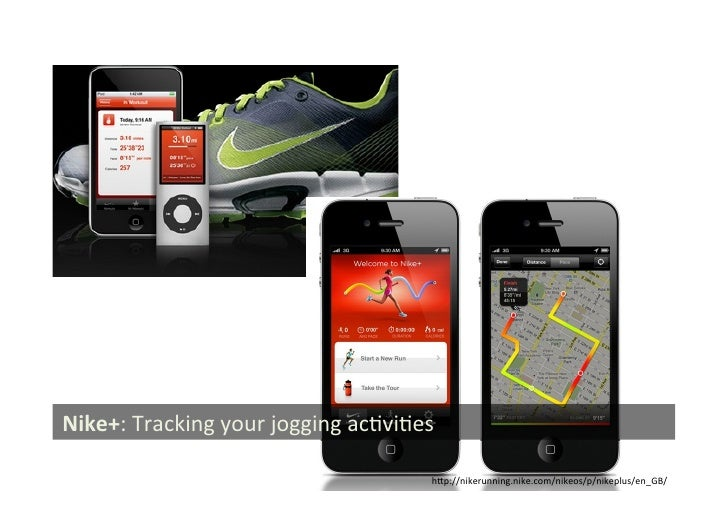 Nike+: Tracking your jogging acGviGes                                                        hSp://nikerunning....
