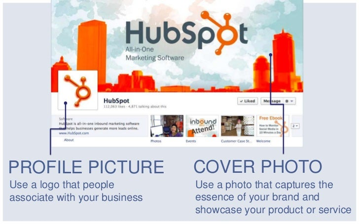 PROFILE PICTURE                COVER PHOTOUse a logo that people         Use a photo that captures theassociate with your ...