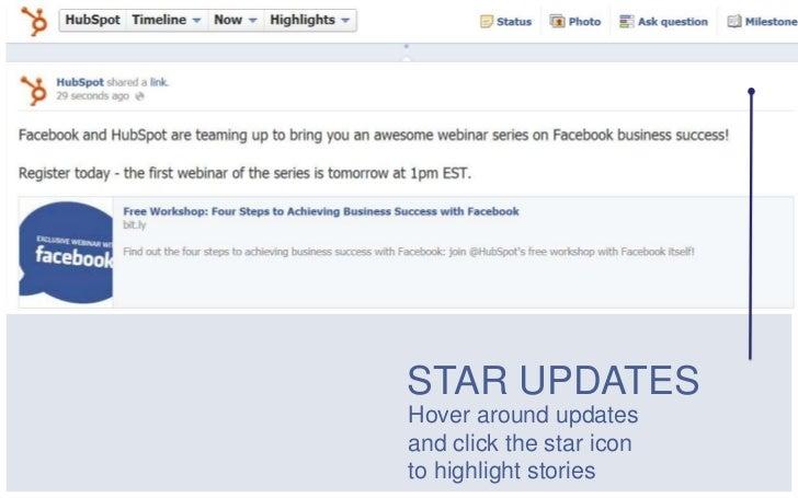 STAR UPDATESHover around updatesand click the star iconto highlight stories