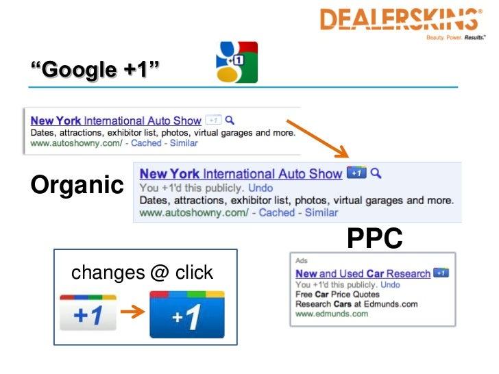 """Google +1""Organic                     PPC   changes @ click"