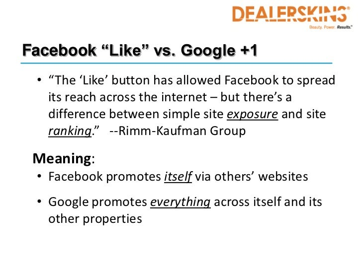 """Facebook """"Like"""" vs. Google +1 • """"The 'Like' button has allowed Facebook to spread   its reach across the internet – but th..."""