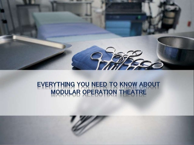 Modular OT (MOT) is a much-needed amenity in a medical environment like hospitals. Even the law approved of it, because it...