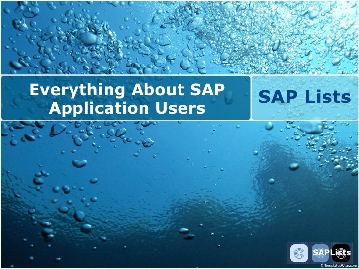 Everything About SAP                        SAP Lists   Application Users                                 SAPLists