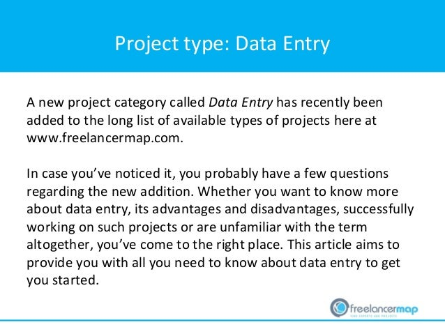 Everything a freelancer needs to know about data entry projects