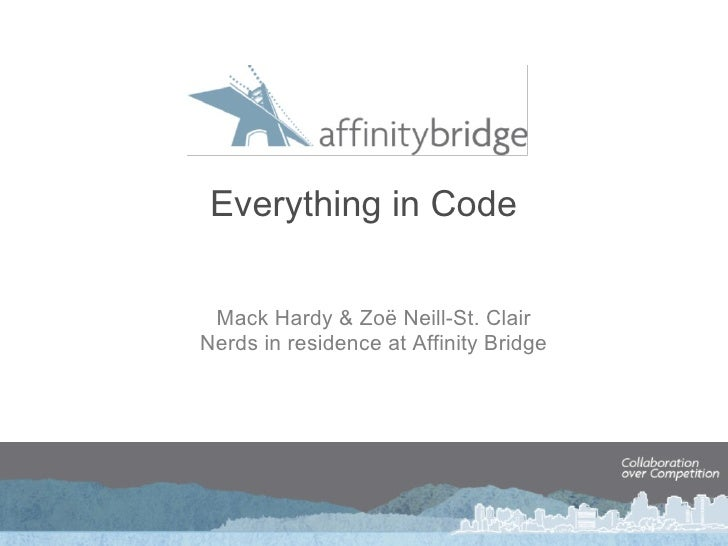 Everything in Code Mack Hardy &Zoë Neill-St. Clair Nerds in residence at Affinity Bridge