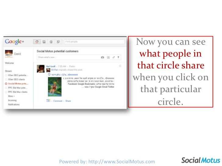 Now you can see what people in that circle share when you click on that particular circle.<br />Powered by: http://www.Soc...