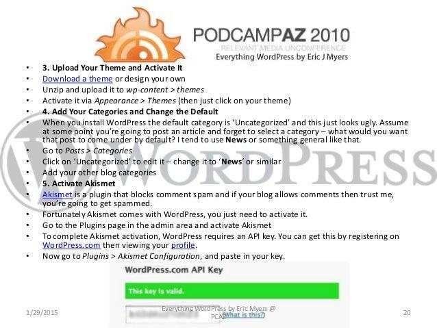 Everything WordPress slideshare - 웹