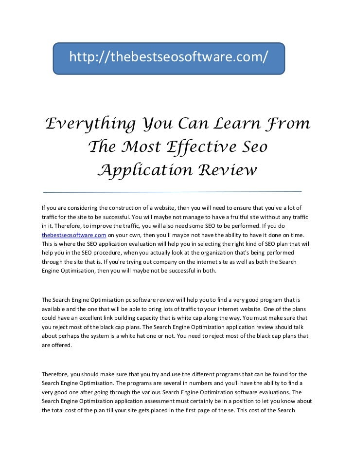http://thebestseosoftware.com/ Everything You Can Learn From                  The Most Effective Seo                      ...