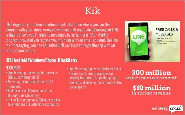 Kik LINE registers your phone