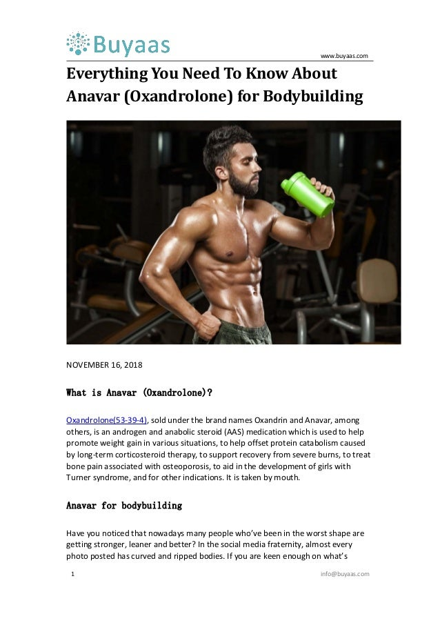 Everything you need to know about anavar (oxandrolone) for bodybuildi…