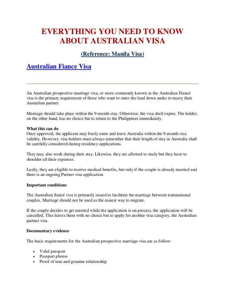 EVERYTHING YOU NEED TO KNOW           ABOUT AUSTRALIAN VISA                               (Reference: Manila Visa)Australi...