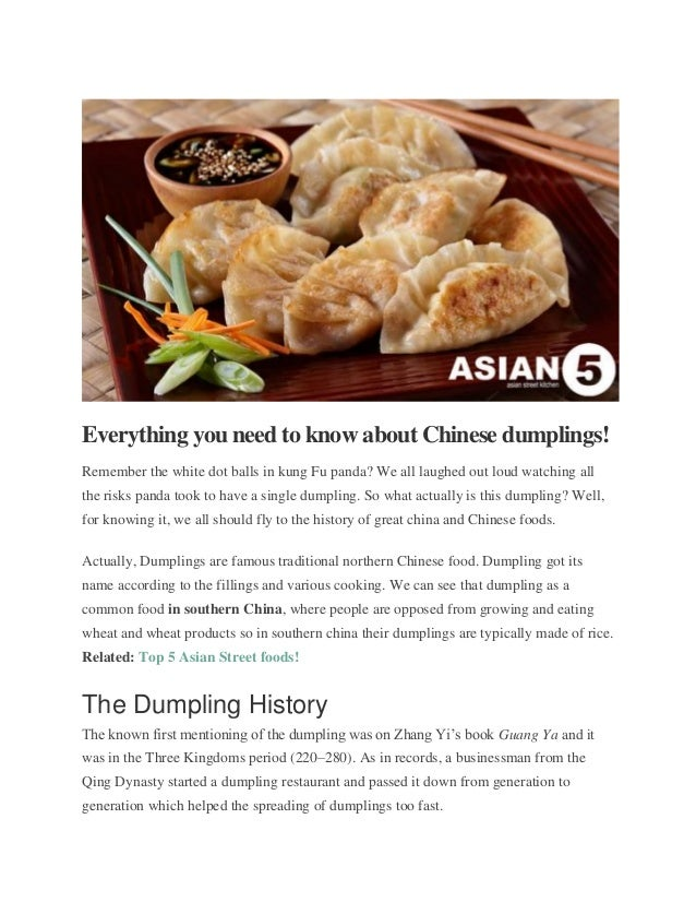 Everything you need to know about chinese dumplings
