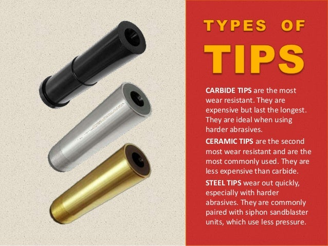 The tip used depends on the job; however, carbide tips are often the most popular. There are three carbide types available...