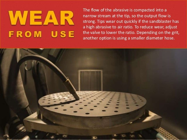 Wear and tear should be monitored, because a nozzle tip should not exceed approximately 20% wear. This is measured by noti...