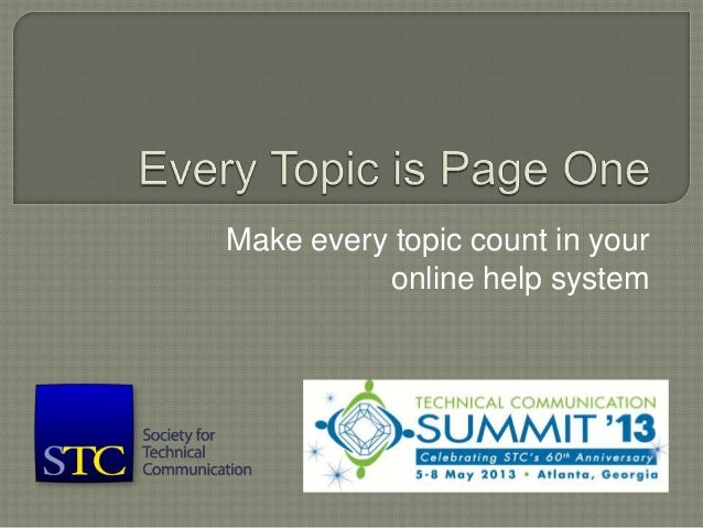 Make every topic count in your online help system