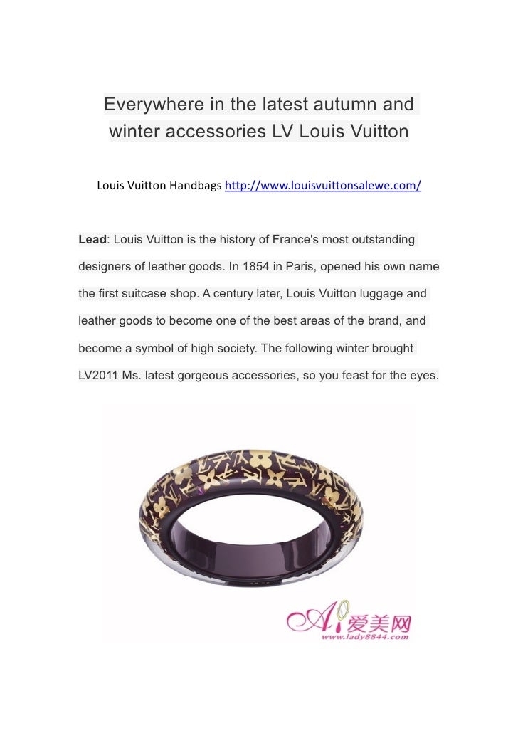 Everywhere in the latest autumn and    winter accessories LV Louis Vuitton   Louis Vuitton Handbags http://www.louisvuitto...