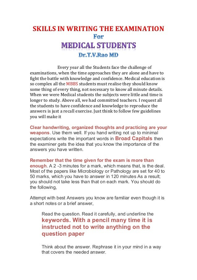 How to write a medical essay