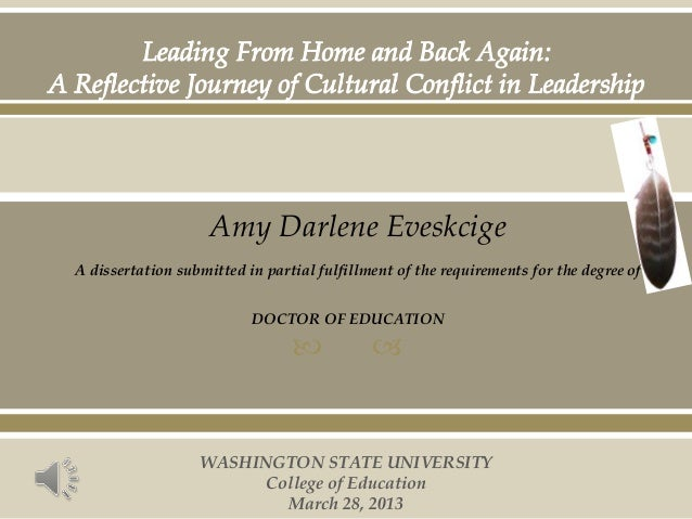   Amy Darlene Eveskcige A dissertation submitted in partial fulfillment of the requirements for the degree of DOCTOR OF ...