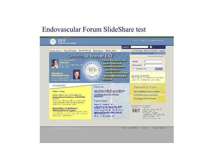 Endovascular Forum SlideShare test