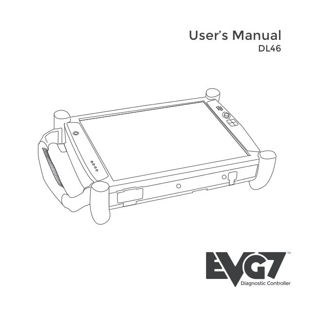 EVG7 DL46 Diagnostic Controller Tablet PC user manual