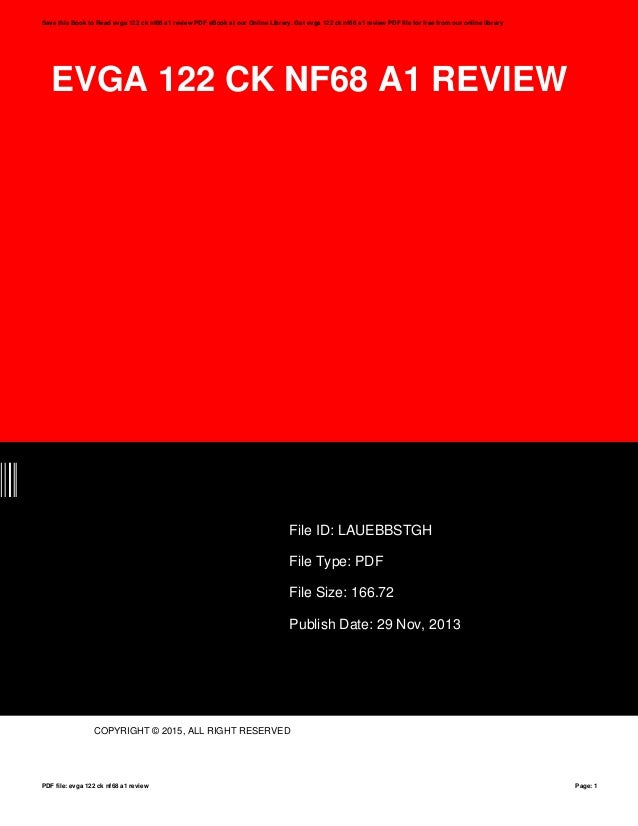 evga 122 ck nf68 a1 review rh slideshare net