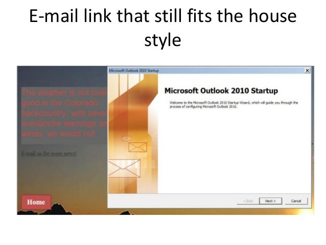 E-mail link that still fits the housestyle