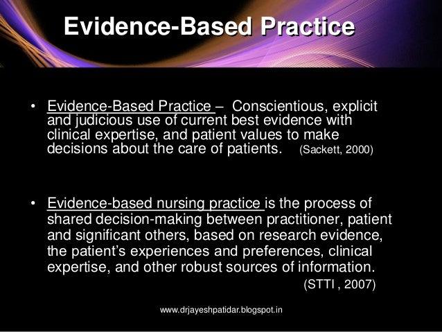 Evidence Based Practice Future Nursing