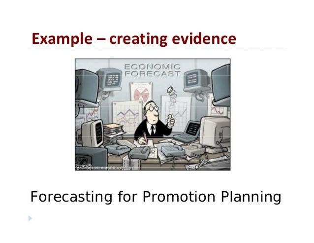 Example– creatingevidencep gForecasting for Promotion PlanningForecasting for Promotion Planning