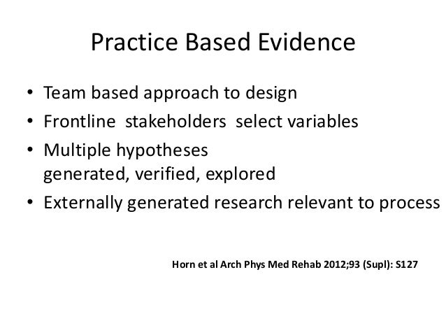 an analysis of tradition to evidence based practice Implementing evidence-based practice through ebp champions tradition, trial analysis of evidence based champion model.