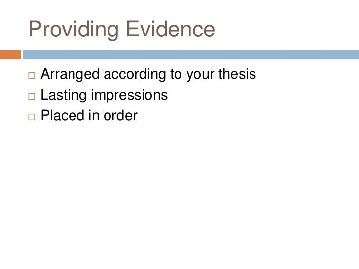 a good thesis is complex and specific