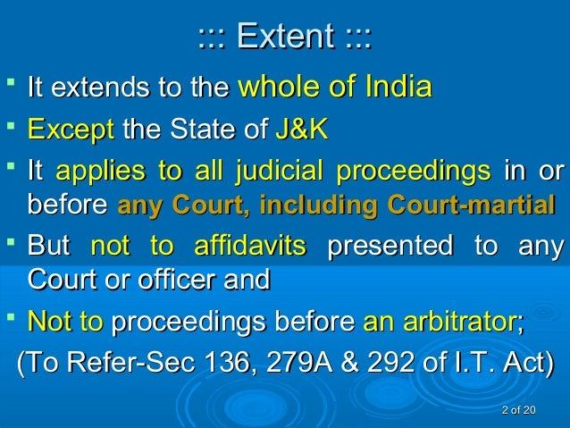 Evidence act1872 Slide 2