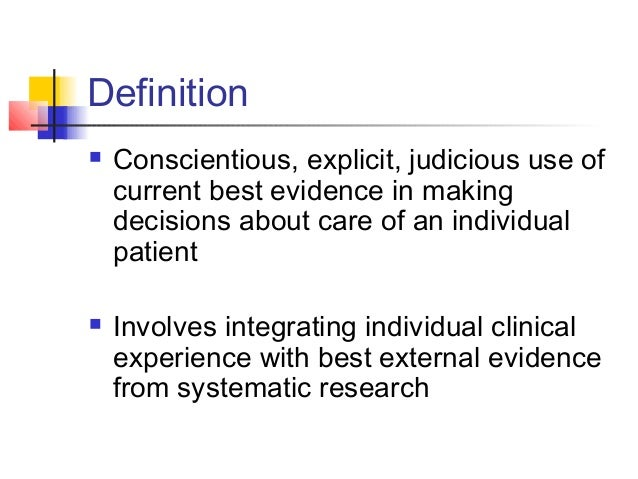 discuss how evidence based practice is applied Discussion question discussion question #1 discuss how evidence-based practice is applied in your practice setting and describe the desired patient outcome achieved.