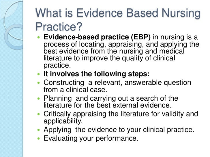 Research and EBP