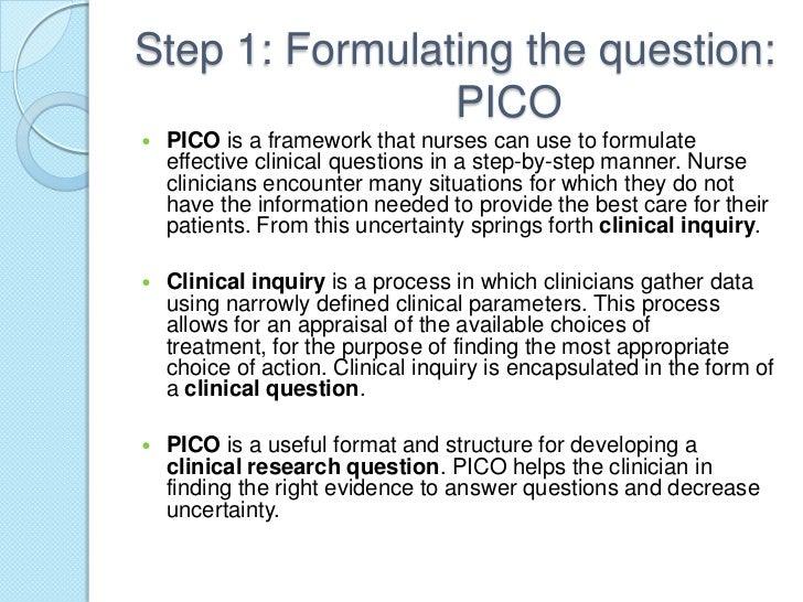 sample pico paper