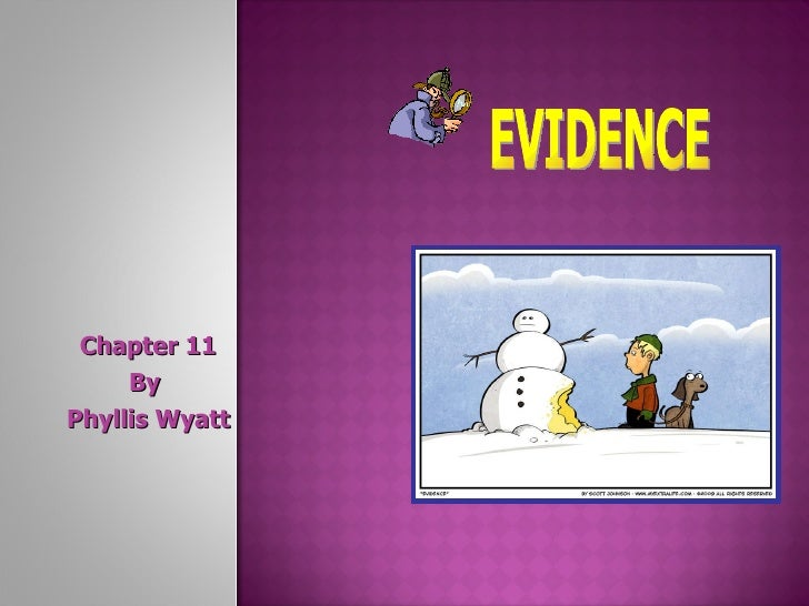 Chapter 11 By  Phyllis Wyatt EVIDENCE