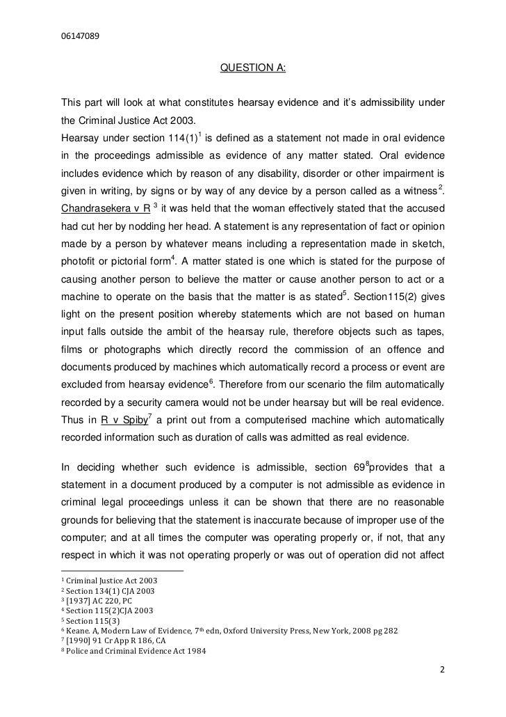 criminal procedure act 1865