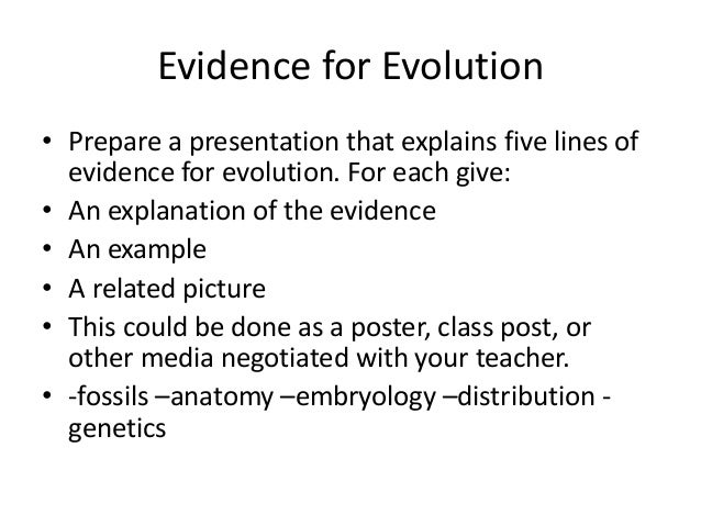 evidence for evolution includes Charles darwin's theory of evolution and natural selection isn't an idea with holes it's one of the most solid theories in science but what exactly is it.