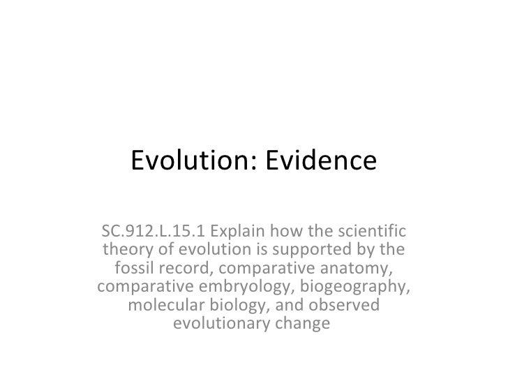 Evidence for evolution powerpoint