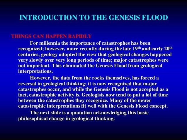 Evidence For The Genesis Flood