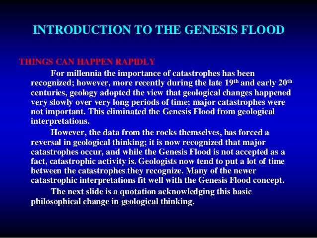 Evidence For The Genesis Flood