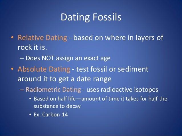 Carbon dating fossils evolution evidence